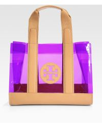 Tory Burch Jesse Leather Trim Tote Bag - Lyst