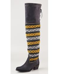 Cobra Society Zeus Over The Knee Suede Boots black - Lyst