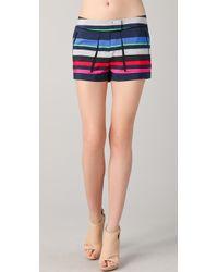 L.A.M.B. - Bold Striped Shorts - Lyst