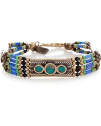 Vanessa Mooney Small Moon Shield Bracelet - Lyst