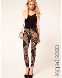 ASOS Collection Petite Exclusive Leggings in Chain Print - Lyst