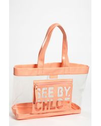 See By Chloé Zip File Transparent Tote - Lyst