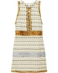 By Malene Birger Callinga Embellished Striped Tweed Dress - Lyst