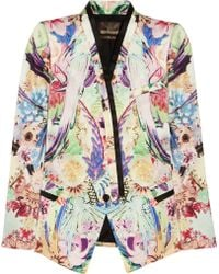 Roberto Cavalli Floral Print Jacket floral - Lyst
