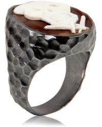 Amedeo Skull Ring - Lyst
