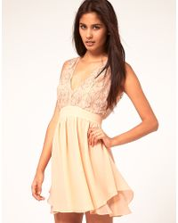ASOS Collection  Skater Dress with Embellished Top - Lyst