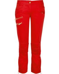 Just Cavalli Zip Detailed Cropped Skinny Jeans - Lyst