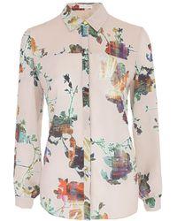Matthew Williamson Tokyo Blossom Crepe De Chine Shirt - Lyst