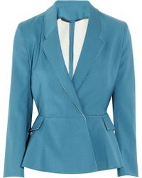Acne Turner Raw Cottonblend Peplum Jacket - Lyst