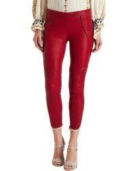 Black Fleece Kalas Leather Legging red - Lyst