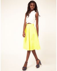 ASOS Collection | Fit And Flare Midi Skirt | Lyst