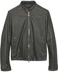 Forzieri Black Python And Calfskin Motorcycle Jacket - Lyst