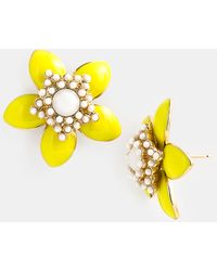 Kate Spade Moms The Word Daffodil Earrings - Lyst