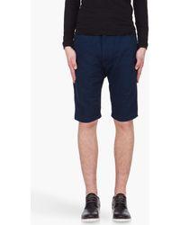 Diesel Dark Blue Panthlapsho Shorts - Lyst