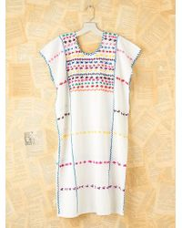 Free People Vintage Cotton Embroidered Dress - Lyst