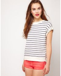 ASOS Collection Asos Top in Loop Back Marl - Lyst