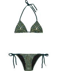 Charlie by Matthew Zink - Charlie Metallic Triangle Bikini - Lyst