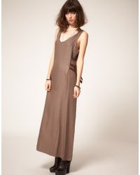 Eleven Paris Maxi Dress With Strapping Detail - Lyst