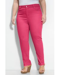 Not Your Daughter's Jeans Alisha Skinny Stretch Jeans pink - Lyst