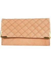 Topshop Quilt Leather Corner Purse - Lyst