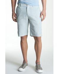 1901 Eastport Seersucker Cotton Shorts - Lyst