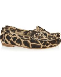 Brian Atwood - Hampton Animalprint Calf Hair Loafers - Lyst