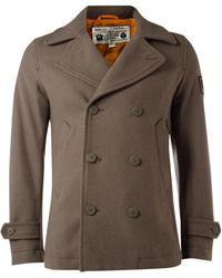 Diesel Double Breasted Coat - Lyst