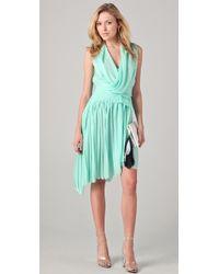 Doo. Ri - Dress with Asymmetrical Pleated Skirt - Lyst