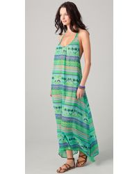Josa Tulum - Halter Cover Up Maxi Dress - Lyst