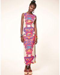 Mara Hoffman Mara Hoffman Printed Column Dress with Open Back - Lyst