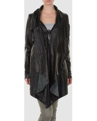 Sonia Villa Leather Outerwear black - Lyst