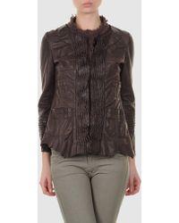 Sonia Villa Sonia Villa Leather Outerwear - Lyst