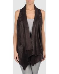 Sonia Villa Leather Outerwear - Lyst