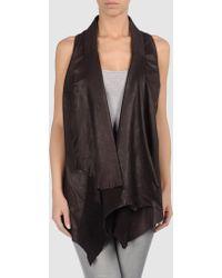 Sonia Villa Leather Outerwear - Lyst