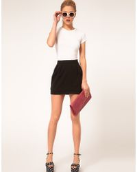 ASOS - Asos Mini Skirt with Tier - Lyst
