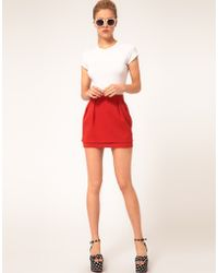 ASOS Collection Asos Mini Skirt with Tier - Lyst
