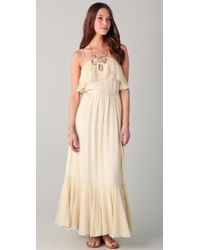 Beyond Vintage - Ruffle Maxi Dress - Lyst