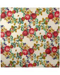 Dickins & Jones - Vintage Bloom Print Embroidery Square Scarf - Lyst