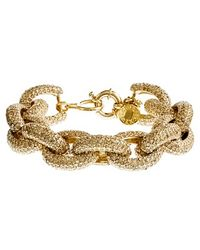 J.Crew Classic Pavé Link Bracelet gold - Lyst