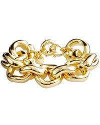 J.Crew Classic Link Bracelet gold - Lyst