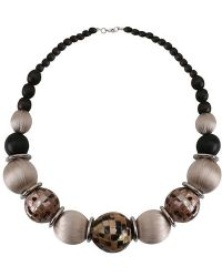 Minuet Petite - Chocolate Wooden Bead Necklace - Lyst