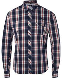 Nza - Red Overcheck Shirt - Lyst
