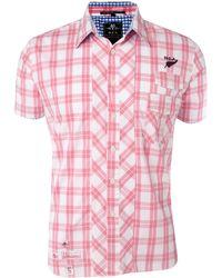 Nza - Grid Check Short Sleeve Shirt - Lyst