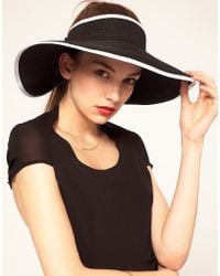 ASOS Collection Asos Wide Brim Straw Visor - Lyst