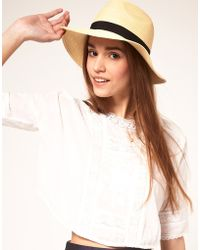 ASOS Collection Asos Straw Fedora Hat - Lyst