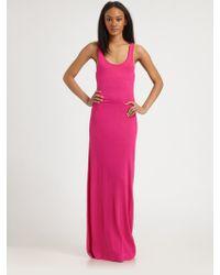 By Malene Birger Jersey Maxi Dress pink - Lyst