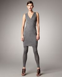 Donna Karan New York Sleeveless Twisted Jersey Tunic - Lyst
