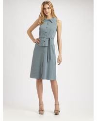 Elie Tahari Stevie Stretch Linen Dress - Lyst