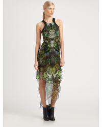 Helmut Lang Cicadaprint Silk Chiffon Dress - Lyst