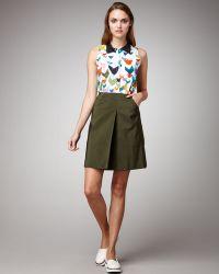 Jil Sander Navy - Inverted Pleat Skirt - Lyst